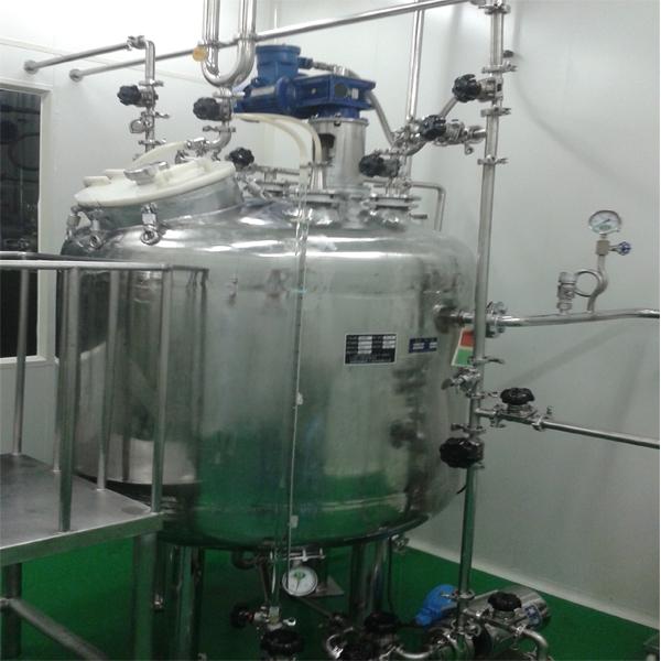 GMP搪玻璃反应釜外包不锈钢